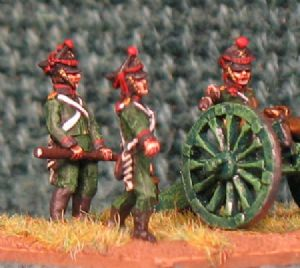 15mm, Napoleonic Russian Line Foot Artillery 6, 12pdr, 10pdr Licorn & 20pdr Licorn AB